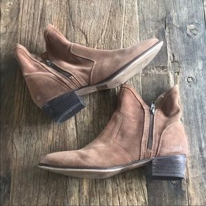 Seychelles Brown Suede Zippered Ankle Boot Size 10